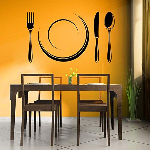 Posate E Zolla Wall Sticker Cucina Adesivo Art disponibile in 5 dimensioni e 25 colori Extra-Small Bianco