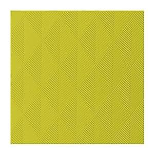 Duni Elegance Crystal linen-like Dunilin Serviettes en papier airlaid, 48cm, 1/4plié, Lot de 40, Kiwi Green, 48 x 48cm