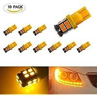 194lampadine LED ezykoo Confezione da 1012V Super Bright T10cuneo Lampadine LED SMD ad alta potenza 283520Fits 1941682825W5W lato interno di ricambio per Cortesia Dome Marker Parcheggio luce