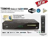Tivusat HD décodeur et carte compatible tivùon (Wi-Fi) TS9016 tivu