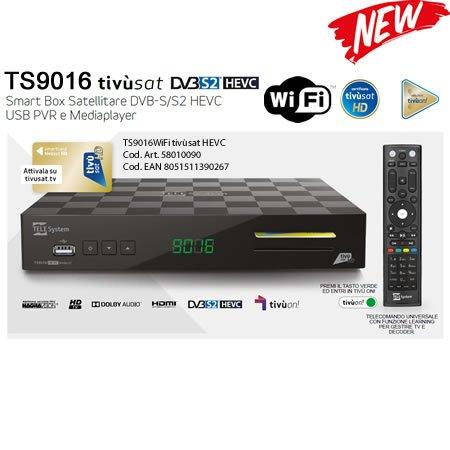 Tivusat HD-Decoder und karten kompatible Tivuon (Wi-Fi) TS9016 tivu