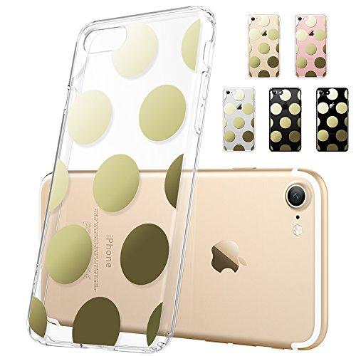 iPhone 7 Hülle (4,7 Zoll), ESR® Beat Bildserie Weich Silikon Rahmen und Hart Zurück Ultradünnen Leichtgewichtt Stoßdämpfung Kratzfeste Schutzhülle für iPhone 7 (Gold Punkte) Gold Punkte