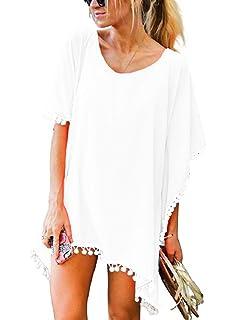 YONHEE Donna Copricostumi Chiffon Nappa Donna da Mare Copricostume Copricostume Donna Spiaggia Donna Cover Up Tunica Costume da Bagno Tunica Estate
