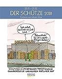 Schütze 2018: Sternzeichenkalender-Cartoonkalender als Wandkalender im Format 19 x 24 cm.