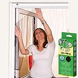 Insektenschutz Fliegengitter für Fenster 100 x 100 cm Anthrazit