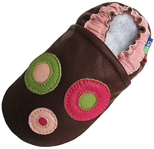Cercle Bourgogne (Circle Burgundy), Chaussures Enfant/Bébé Semelle Souple Garçon Filles