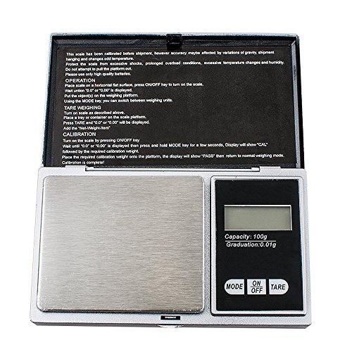 Denshine 100g x 0.01g Taschenwaage Feinwaage Digitalwaage Goldwaage Münzwaage Scale
