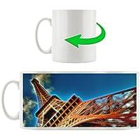 Torre Eiffel diagonale, tazza Motif in bianco 300ml ceramica, grande idea regalo per ogni occasione. La tua nuova tazza preferita per caffè, tè e bevande calde.