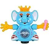 CM SALES DANCING ELEPHANT WITH LED LIGHTS & MUSIC, BLUE COLOR