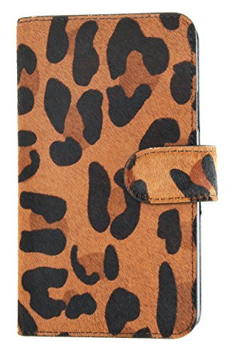 Mobile Luxe MOBILELUXE Hair Calf Wallet Case für Samsung Galaxy S5 - Leopard Print/Schwarz - Luxe Leopard