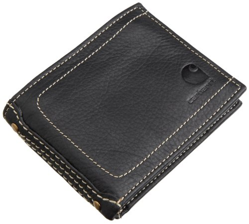 Carhartt Pebble Passcase Wallet, 61-2201.BLK, schwarz, 61-2201 (Black Pebble Grain)