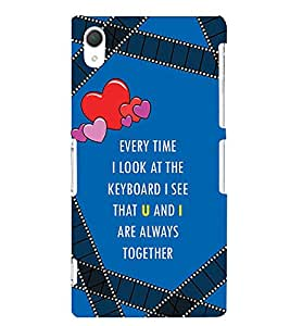 Fabcase Quotes to express love Designer Back Case Cover for Sony Xperia Z2