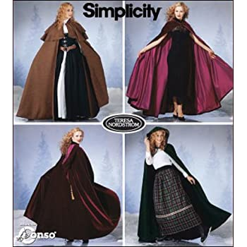 Simplicity Schnittmuster 7100 A Capes Gr. XS - L: Amazon.de: Küche ...