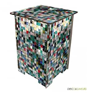photohocker mosaikfliesen bunt k che haushalt. Black Bedroom Furniture Sets. Home Design Ideas