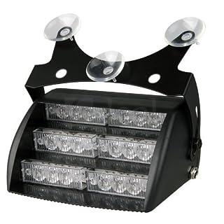 Aurnoc 18 LED Notfalllicht für Windschutzscheibe, Armaturenbrett, 3 Blitzmodi, erhältlich in Weiß/Bernsteinfarben