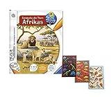 Ravensburger tiptoi  Buch Wieso? Weshalb? Warum? - Entdecke die Tiere Afrikas + Dinosaurier Sticker