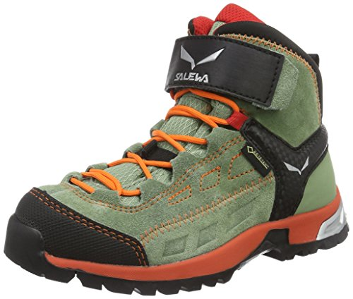 SALEWA Jr Alp Player Mid Gtx, Scarpe da Escursionismo Unisex – Bimbi 0-24 Verde (Oil Green/papavero 5871)