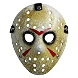 Landisun Costume Prop Horreur Masque de hockey Jason VS. Freddy Friday the 13th Halloween Myers (one size, jaune)