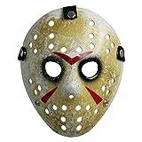 Máscara para disfraz de Halloween, diseño de hockey (adulto, amarillo)