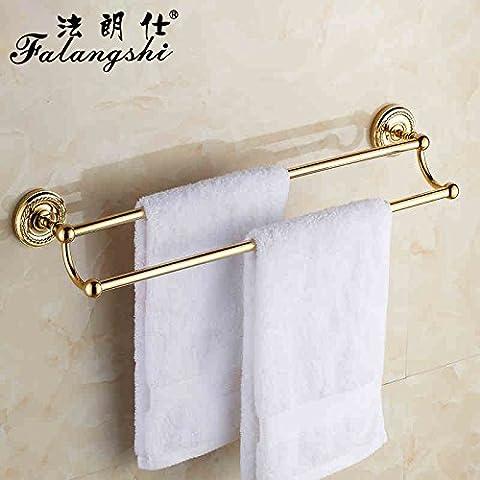 SDKKY Serviette de bain en plaqué or 5 sèche-serviettes salle de bains sèche-serviettes Kim autour d''un coer rod Hanger