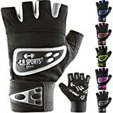 C.P. Sports Profi-Grip-Bandagen-Handschuh - farbig, bunt, Fitness - Handschuh gelb L
