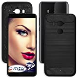 mtb more energy Custodia Carbon per HTC U11 Plus | U11+ | U11 EYEs (6.0'') | Nero | flessibile | sottile | TPU Silicone Case Cover