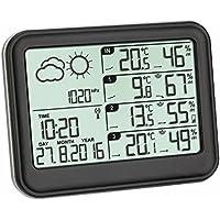 TFA Dostmann View Funk-Wetterstation, 35.1142.01, mit 3 Sendern, Wettervorhersage Klimaüberwachung, Temperatur, Luftfeuchtigkeit