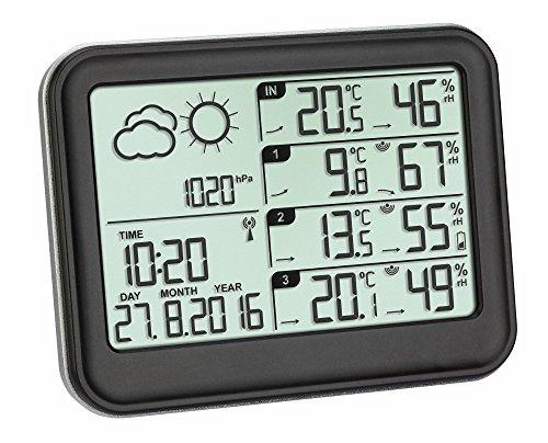 TFA Dostmann 35.1142.01 Estación meteorológica inalámbrica View negro con baterías
