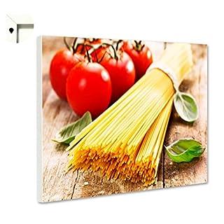 Pinnwand Magnettafel Memoboard Motiv Küche Spaghetti (60 x 40 cm)