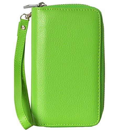 Wkae Case Cover 2 in 1 Trennbare Zipper Wallet Ledertasche mit Lanyard für iPhone 6 &6S ( Color : Red ) Green