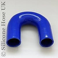 Codo de silicona de 180 grados para manguera reforzada Turbo y Coolant, 65 mm, color azul