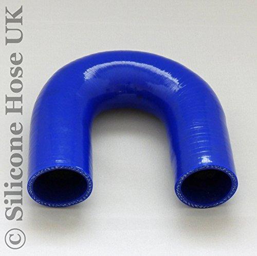 180 degrés en silicone Turbo et liquide de refroidissement Flexible renforcé Coude ID : 45 mm - Bleu