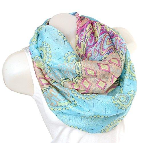 Glamexx24 Damen schal mit Mustermix im Blumendesign Langschal Loop Schlauchschal Tuch Viele Modelle 00880