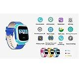 Witmoving Kinder Smart Uhr Watch GPS-Verfolger Armbanduhr SOS Armband mit SIM-Karten Slot für IOS Android Smartphones (Rosa) - 2