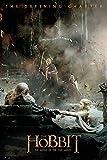 The Hobbit - BOTFA - Aftermath - Schlacht der 5 Heere Plakat Poster Druck - Größe 61x91,5 cm + 2 St Posterleisten Holz 61 cm