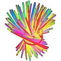 Pulsera fluorescente luz química 100 piezas pulsera fluorescente enlace en psyllium con el partido de color al azar fiesta surtido banquete de verano evento matrimonio fiesta de graduación pulsera fluorescente