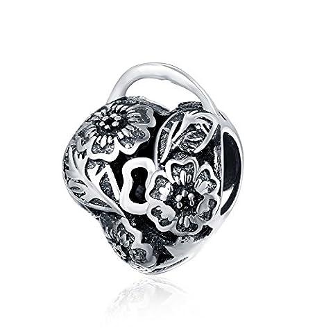 Hmilydyk Fashion Bijoux 925Argent pur Amour Cœur Breloque pour bracelet Pandora Charm Bracelets