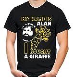uglyshirt89 Hangover Giraffe Männer und Herren T-Shirt | Spruch Carlos Kostüm Alan Geschenk (S, Schwarz)