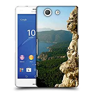 Snoogg Yellow Mountain Designer Protective Phone Back Case Cover For Sony Xperia Z3 Compact