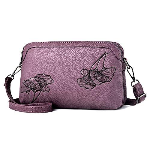 GUANGMING77 Spalla _ Piccola Borsa A Tracolla Color,Viola Violet