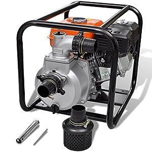 Festnight Bomba de Agua con Motor de Gasolina – 3600rpm 3,6L 5,5HP – Material de Metal, 48x37x38 cm