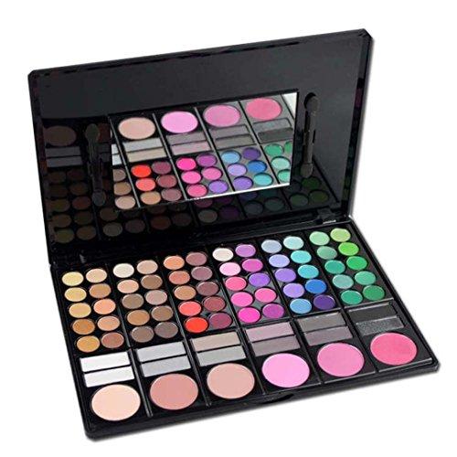 Fards à paupières,78 couleur Matte Eye Shadow + fard à joues + maquillage couleurs lèvres outils de maquillage de luxe maquillage ombre palettes Kit ombre à paupières par LHWY (B)