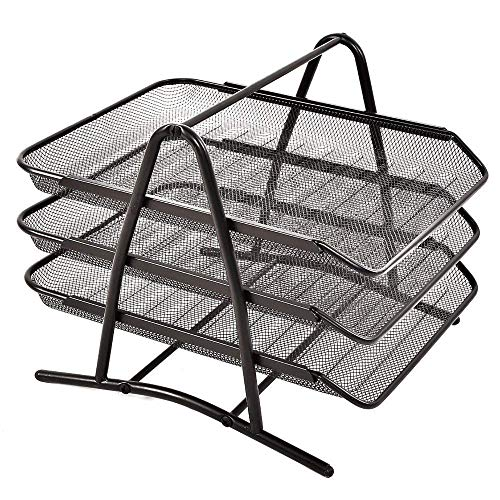 Osco Mesh Magazine File Scratch-resistant with Non-marking Rubber Pads A4 Plus Black Ref MR1 B