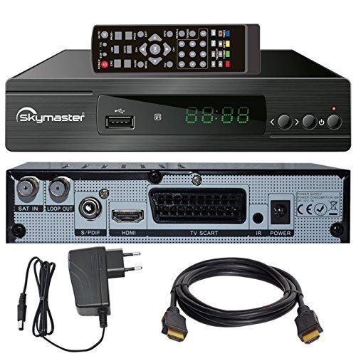 HB DIGITAL DVB-S/S2 SET: DVB-S/S2 Receiver + HDMI Kabel mit Ethernet Funktion und vergoldeten Anschlüssen (HD Ready, HDTV, HDMI)
