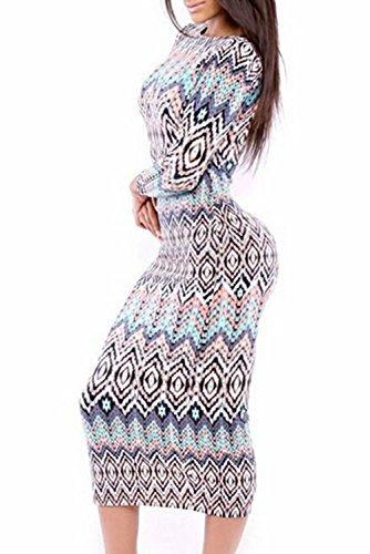 E-Girl femme Multicolore SY6856 robe de cocktail Multicolore