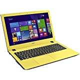"Acer Aspire E5-573-35J4 - Portátil de 15.6"" (Intel Core i3 4005U, 4 GB de RAM, Disco HDD de 500 GB, Intel HD Graphics 4400, Windows 10 Home), negro y amarillo -Teclado QWERTY Español"