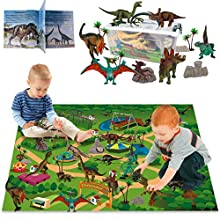 LOYO Dinosaur Toy Figure with Playmat - 24 Pcs Kids Realistic Dinosaur Playset Educational Learning Toy for Toddlers, Boys
