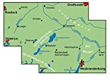 ADFC-Regionalkarte Mecklenburgische Schweiz Vorpommersche Flusslandschaft mit Tagestouren-Vorschlägen, 1:75 - 000: Zwischen Greifswald, ... mit Eiszeitroute (ADFC-Regionalkarte 1:75000) -