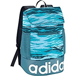 Adidas W Lin Perf BP G Mochila, Mujer, Azul (azuhie/azuvap / Blanco), NS