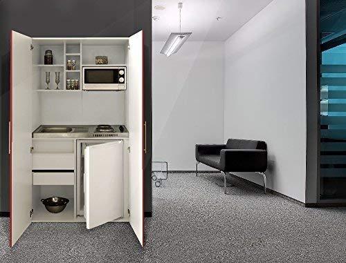 respekta Single Büro Pantry Küche Miniküche Schrankküche weiß rot Ceran